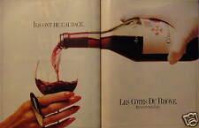 PUBLICITÉ 1981 LES CÔTES DU RHÔNE RENCONTREZ LES - ADVERTISING