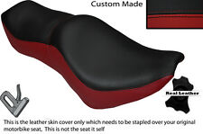 BLACK & DARK RED CUSTOM FITS YAMAHA VIRAGO XV 700 1000 LEATHER SEAT COVER