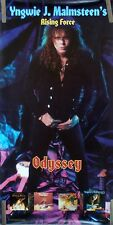 RARE YNGWIE MALMSTEEN GUITAR ODYSSEY 1988 VINTAGE ORIG RECORD STORE PROMO POSTER