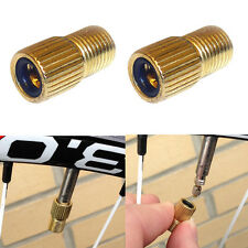 2X Presta to Schrader Valve Adapter Converter Road Bike Bicycle Cycle Pump Tube#