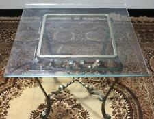 Vintage Copper Wrought Iron Glass Top Coffee Occasional Table FREE DELIVERY