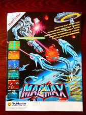 Original Nichibutsu MAGMAX Arcade Game Advertising Flyer
