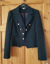 RED HERRING DEBENHAMS NAVY BLUE MILITARY STYLE JACKET SIZE 10 FAB CONDITION!
