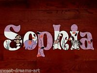 Personalized Hand-Painted Wood Letters COCALO JACANA Crib Bedding PRICE PER LTR