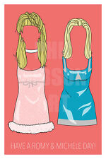 Original Romy and Michele's High School Reunion Print Blu Art Poster Dress Prom