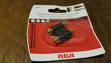 Jacks Dual Inline Coupler RCA Audio, Video and Speaker Cables AH210 Black
