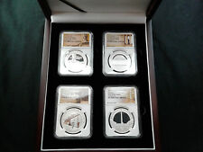 4 Coin Set 2015 NIUE NGC PF70 ER America's Monuments 1 oz Pure Silver Coins