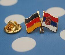 Freundschaftspin Deutschland Serbien mit Wappen Pin Button Badge Anstecker