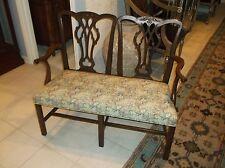 Kittinger Chinese Chippendale upholstered settee
