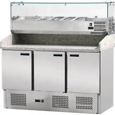 PP2203614 Pizzakühltisch Pizzatisch 3 Türig mit Kühlaufsatzvit