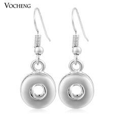 Vocheng Interchangeable 12mm Small Snap Button Earring VK-004