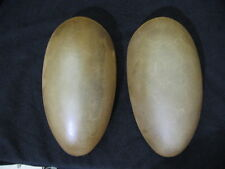 "Pair of Amber Colored Slip Shades in Oblong Shape 10 1/4"" X 6"" Wide"