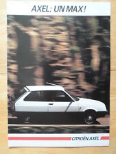 CITROEN AXEL RANGE 1985 French Mkt Sales Brochure