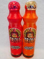 Lucky Bingo Troll Daubers Markers 4 oz Each Set Of 2  Red And Orange New