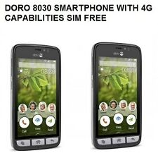 New Doro 8030 Black SIM Free 4G Smartphone unlocked handset only