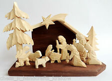 BRAND NEW HANDMADE WOODEN CHRISTMAS DECORATION NATIVITY SCENE