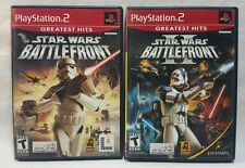 Playstation 2 PS2 Star Wars Battlefront II Games CIB Complete + Manual Lot of 2