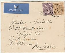 GREAT BRITAIN 1934 KGV AIRMAIL COVER TO  AUSTRALIA
