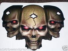 RED eyes Tribal Skull Hood or Tailgate Decal Sticker Graphics Decals Skulls