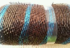 Mesh Ribbon*Deco*Floral*New*Teal*Brown*Copper*5.5 x 30 Feet*Shimmering Blue*Roll