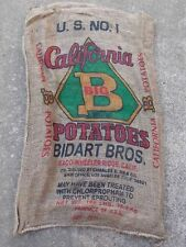 "25 Qty - 24"" x 40"" Clean Used Burlap Potato Sack/Bag Rat Rod, Sack Race, Feed"