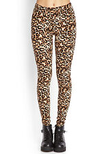37% OFF AUTH FOREVER 21 LEOPARD PRINT LEGGINGS BNEW MEDIUM SRP US$ 10.80+