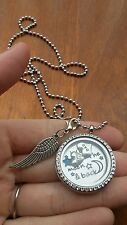 Loss of my dad in memory of father floating living memory charm necklace