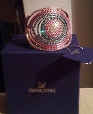 GENUINE SWAROVSKI BANGLE LARGE STATEMENT 60's style pink blue silver christmas