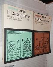 IL DECAMERON 2 Volumi Giovanni Boccaccio Carlo Salinari Laterza 1979 letteratura