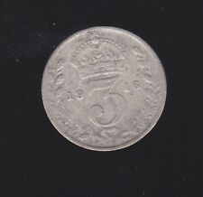 1916 Great Britain Silver Threepence Coin  S-307