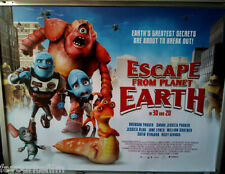 Cinema Poster: ESCAPE FROM PLANET EARTH 2014 (Quad) Brendan Fraser Ricky Gervais