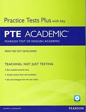 Pearson English PTE ACADEMIC Practice Tests Plus with Key / Answers & CD-ROM New