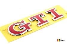 VOLKSWAGEN VW GOLF MK7 NEW GENUINE RED GTI LETTERING BADGE EMBLEM 5G0853675ACJZQ
