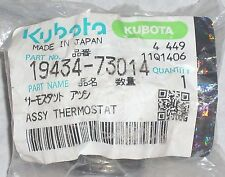 Genuine Kubota 19443-73014 Thermostat Assembly Mower Excavator Loader Generator