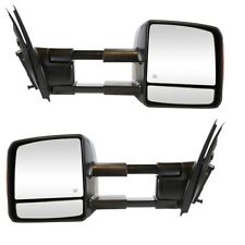 Power Towing Heated Signal Mirrors Pair Set for 07-13 Toyota Tundra Pickup Truck