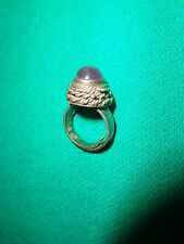 VINTAGE STERLING SILVER AMETHYST POISON RING ADJUSTABLE MADE IN MEXICO