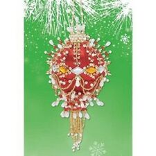 Herrschners Scarlet Beaded Collector Ornament Kit #47 in Series ~ New