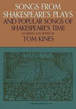 Songs from Shakespeare's Plays and Popular Songs of Shakespeare's Time, , Very G
