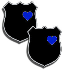 Support Police Badge Heart Wife Family Blue Line 2nd Amendment 2A Sticker Decal