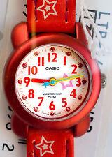 Casio Girls Children's Analog Red Stars Casual Watch 50M WR LTR-14B-4A New