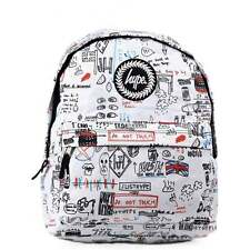 HYPE Backpack Illustrated White School Bag 22012 - HYPE Bags **FREE HARIBO