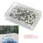 100PC Pearl Wedding Bridal Decorating Sewing Head Dressmaking Corsage Pins Craft