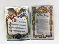 Vintage Bill of Rights and Star Spangled Banner Color Foil Etch Print Set