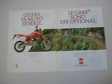 advertising Pubblicità 1990 MOTO GILERA RC 125 TOP RALLY