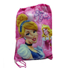 PRINCIPESSE cenerentola aurora sacca rosa glitterata 28,5x40 cm da bambina