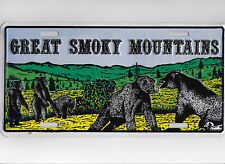 Great Smoky Mountains  metal license plate for fans of Black TEddy Bears