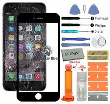 Apple iPhone 6 ( 4.7 INCHES ) Front glass screen replacement repair kit BLACK