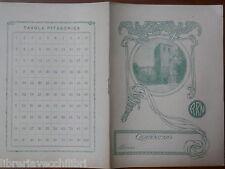 Vecchio quaderno scolastico di scuola d epoca Stemma citta Italiana ARN scudo da