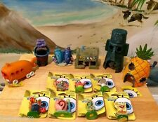 SPONGEBOB & FRIENDS & HOUSES 13 PC AQUARIUM *US SELLER* DECORATION ORNAMENTS SET