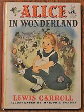 Alice In Wonderland Lewis Carroll Marjorie Torrey illustrated by circa 1964  SA9